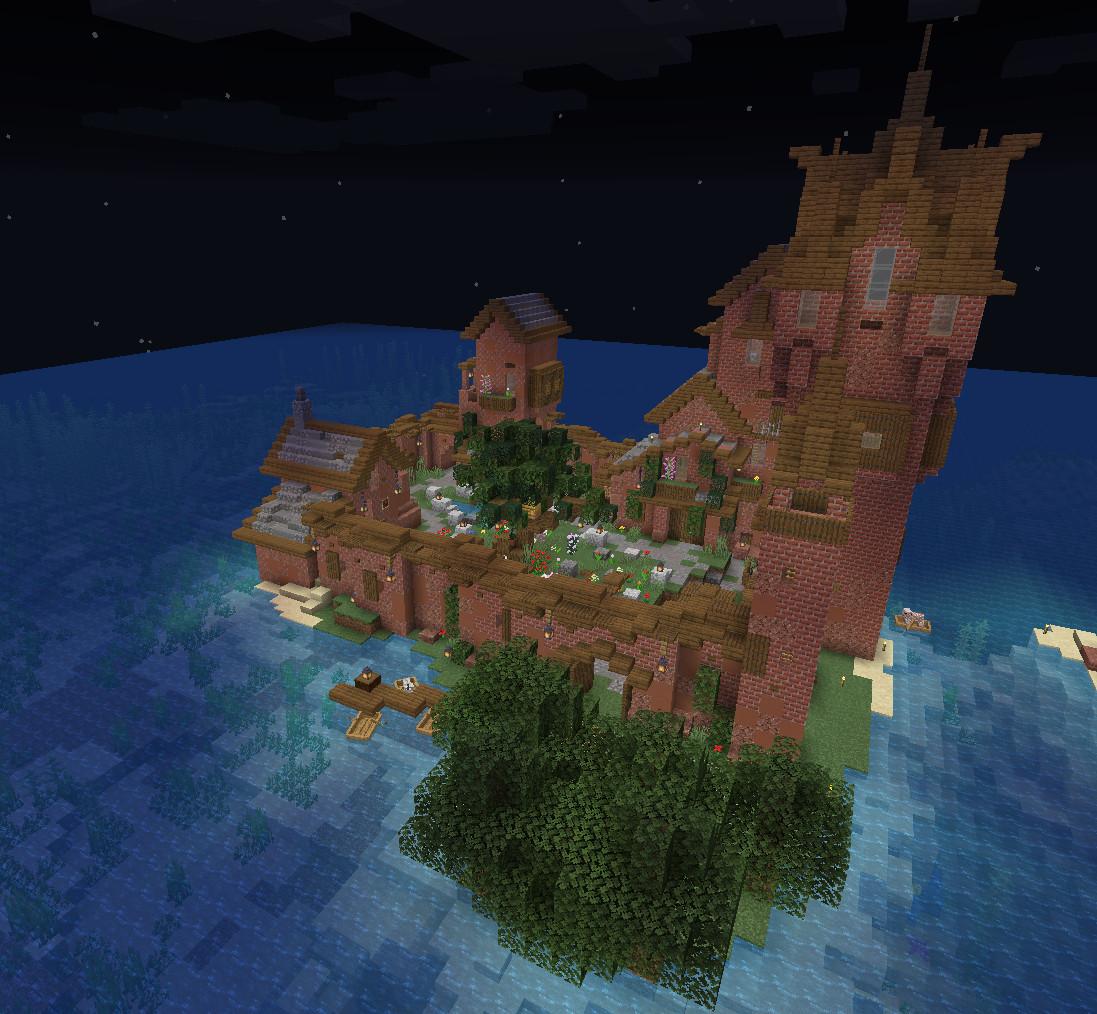 изображение для записи Замок постройка в Майнкрафт